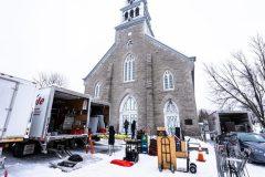 Le tournage d'une série télé à Rivière-des-Prairies