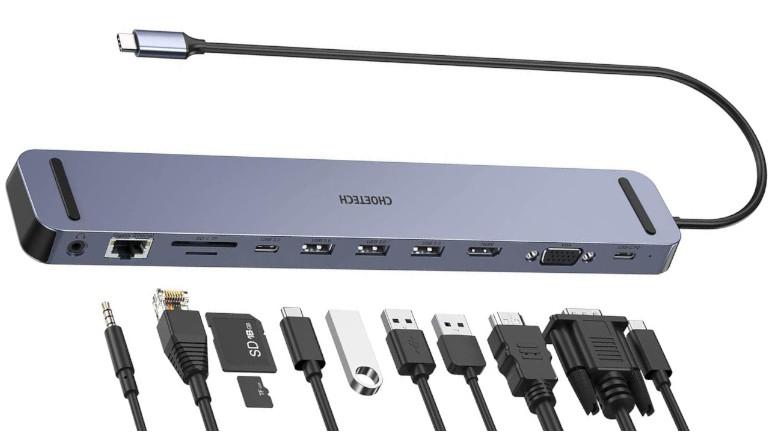 adaptateur 11 en 1 de Choetech  ports ordinateurs portables