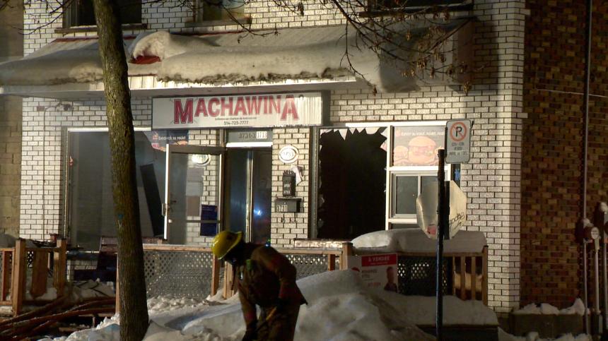 Un restaurant de la rue Jean-Talon ravagé par un incendie