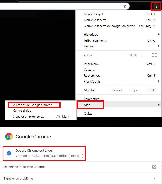Google Chrome mise a jour version 88.0.4324