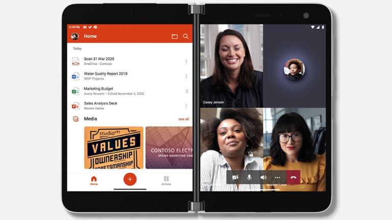Microsoft Surface Duo téléphone multitask
