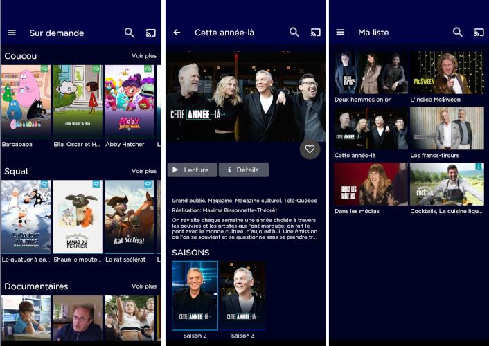 Application mobile Télé-Québec