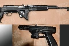 Saisie de sept armes à feu par l'escouade Quiétude