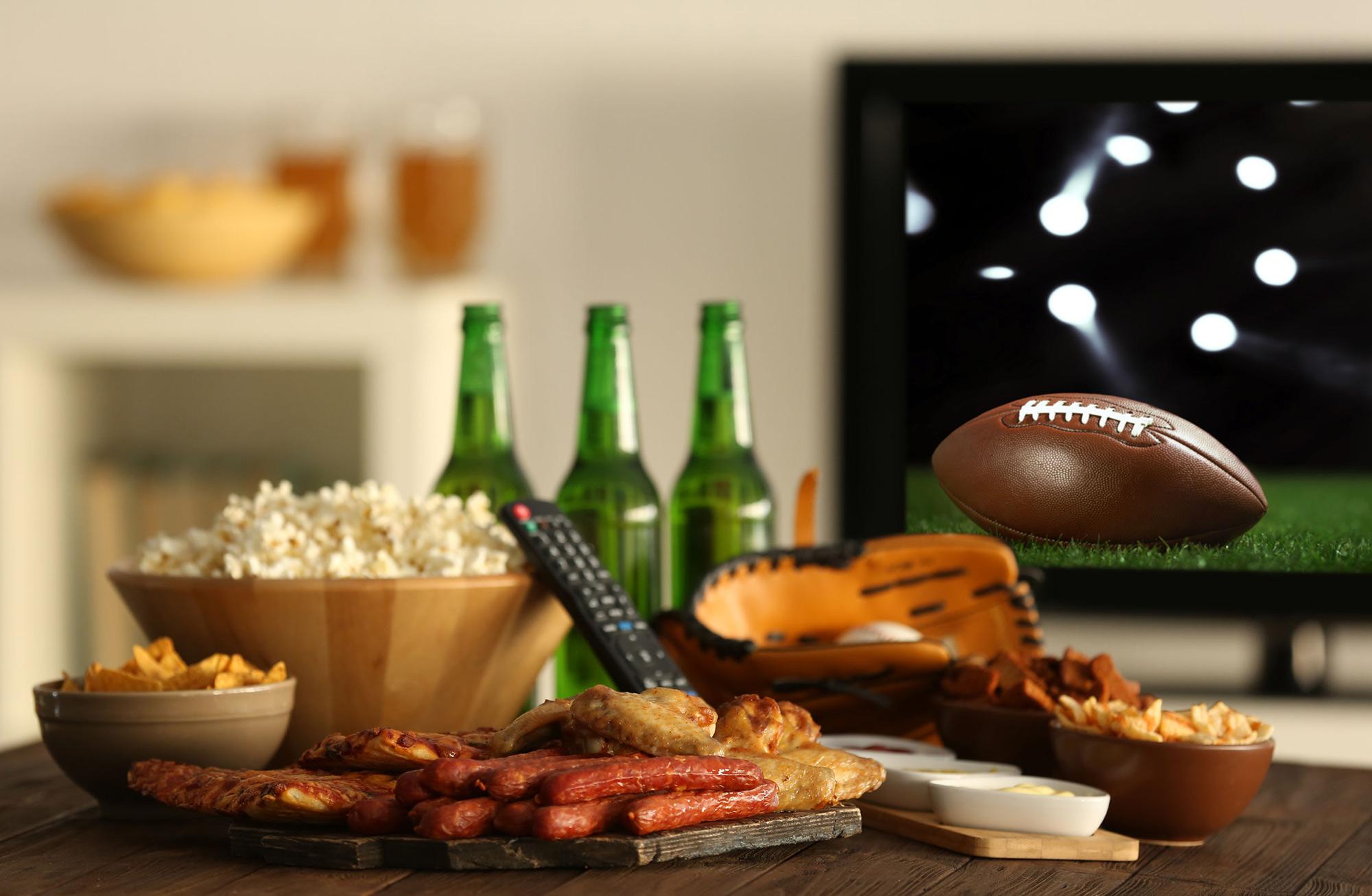 Collations pour regarder le football américain sur la télévision.