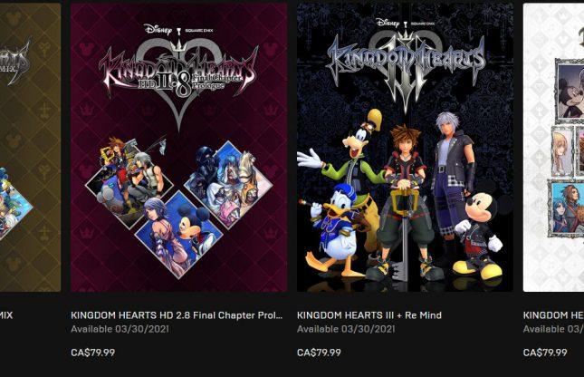 La série Kingdom Hearts débarque sur PC en mars