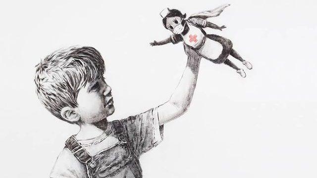 Vente record pour un Banksy, au profit du service de santé britannique