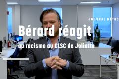 Bérard réagit au racisme au CLSC de Joliette