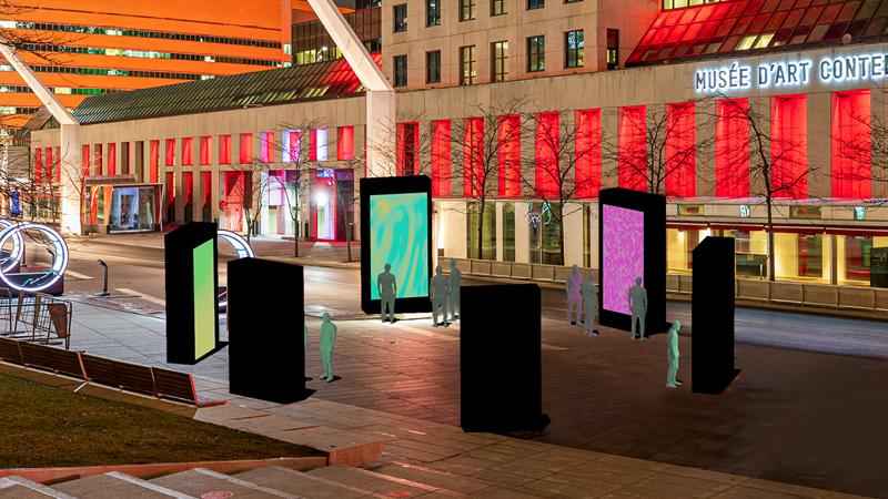 «Splinter», une nouvelle œuvre interactive au Quartier des spectacles