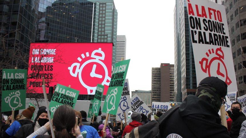 Manifestations dans le secteur public, dépôt d'une nouvelle offre gouvernementale