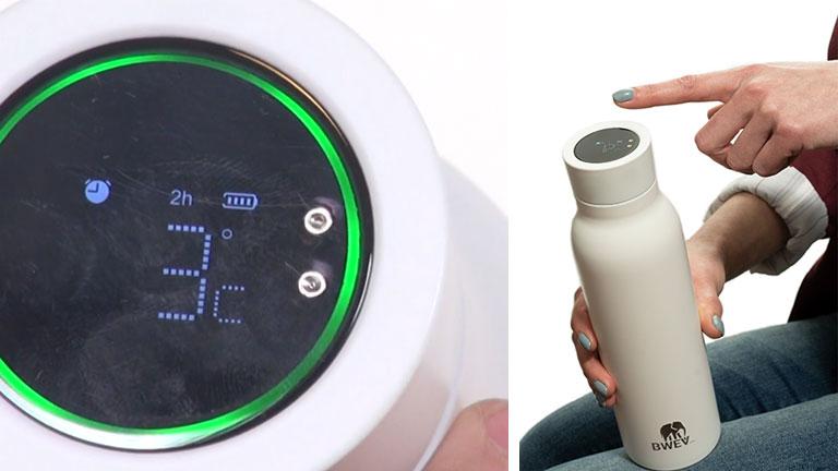 bouchon tactile intelligent bouteille eau bwev