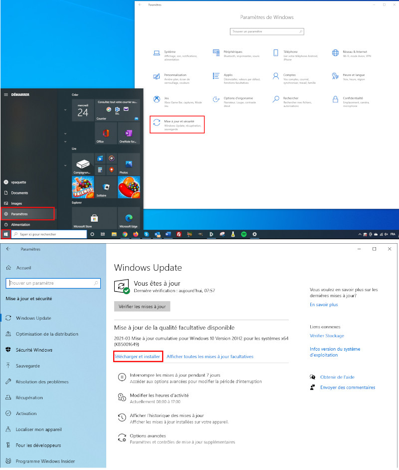 Comment installer une version récente de Windows 10
