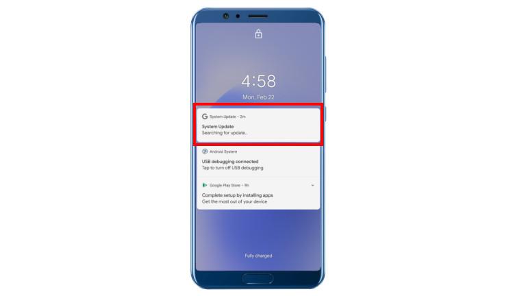 Fausse notifications virus application mise à jour Android
