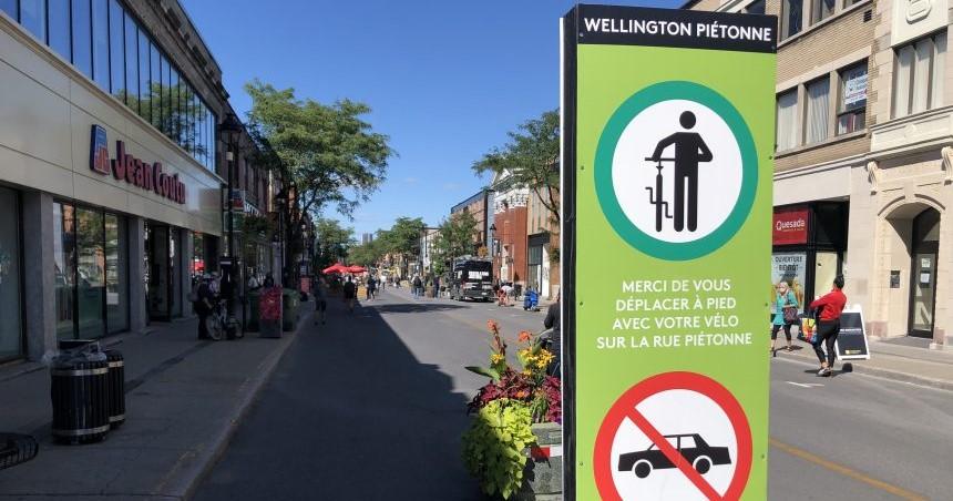 La seconde édition de la rue Wellington piétonne s'adapte