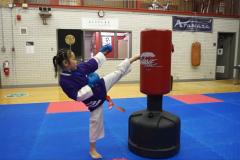 Une jeune karatéka de Lachine participe aux Jeux de Montréal