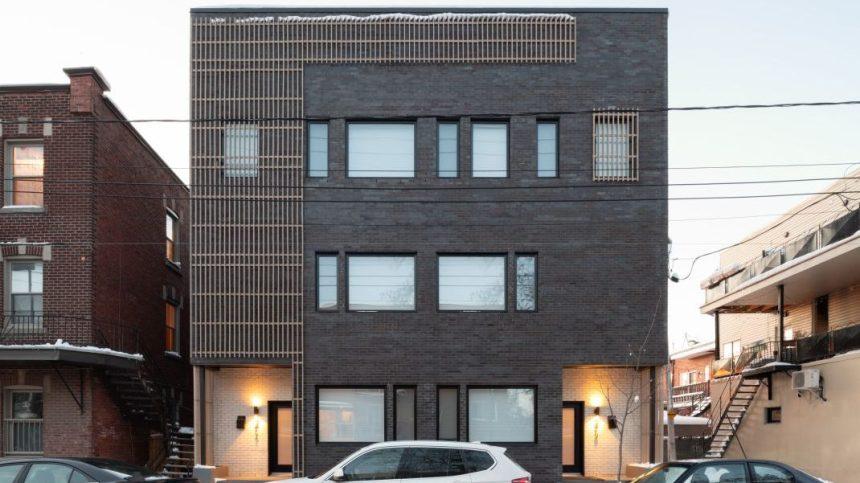 Résidence Gounod: une maison toute en verticalité