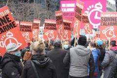 Manifestation à la Journée des travailleurs le 1er mai
