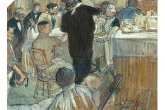 Une toile de Toulouse-Lautrec sur l'univers hospitalier aux enchères