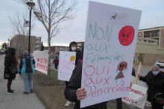 Manifestation d'Info-Femmes contre les féminicides