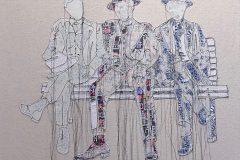 Des tableaux cousus main par l'artiste Sylvie Lajoie