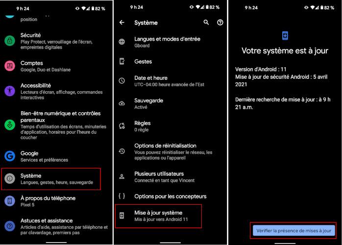 Comment installer mise à jour Android