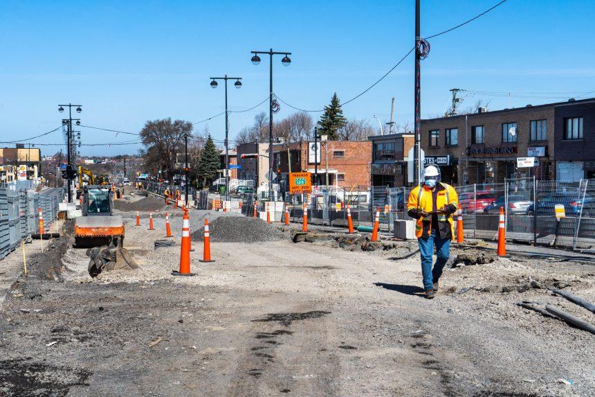 Montréal-Nord: les travaux du SRB Pie-IX progressent