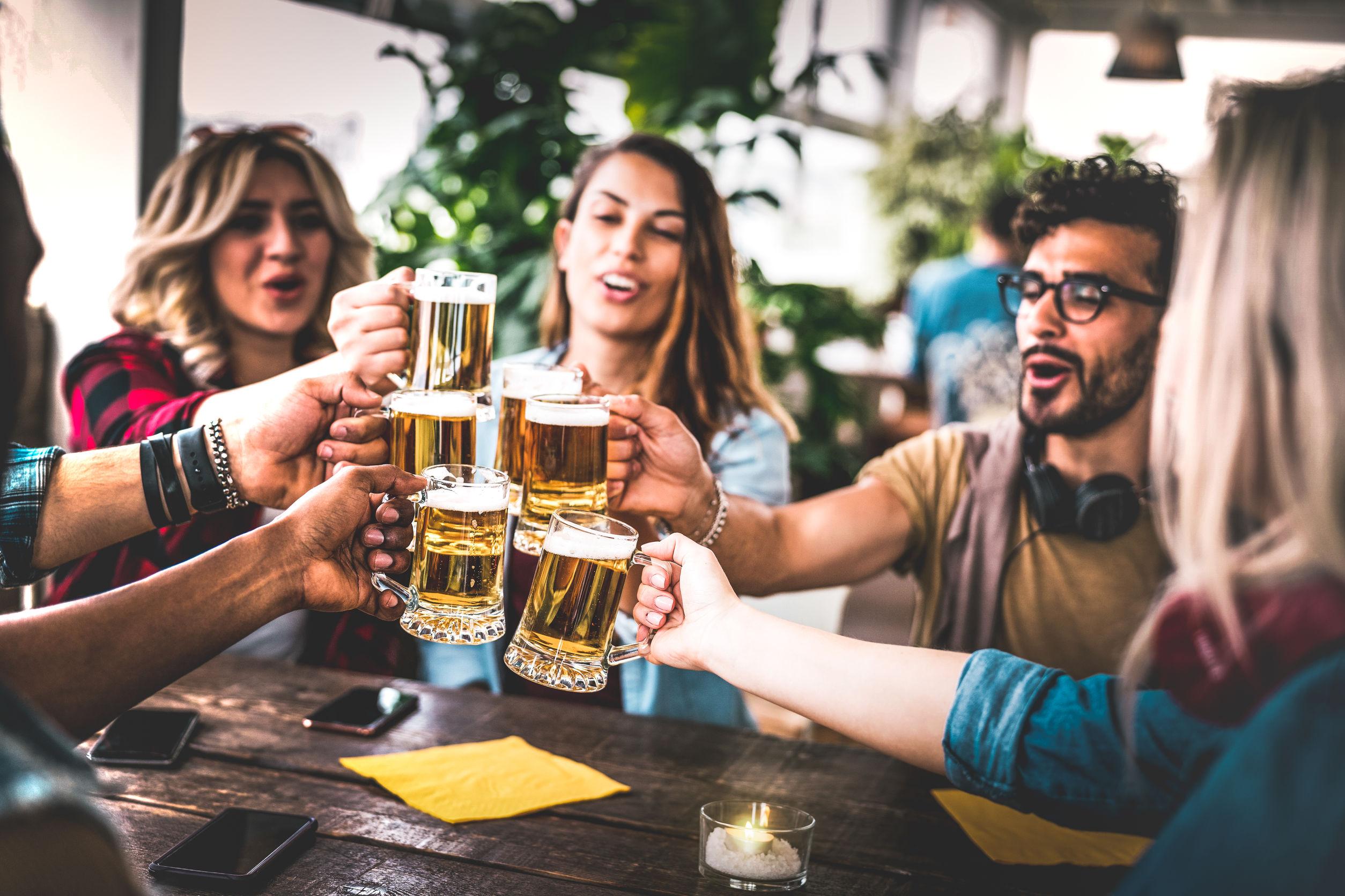 Amis terrasse bière