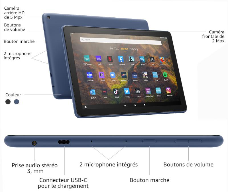 Tablette Amazon Fire HD 10 spécificités