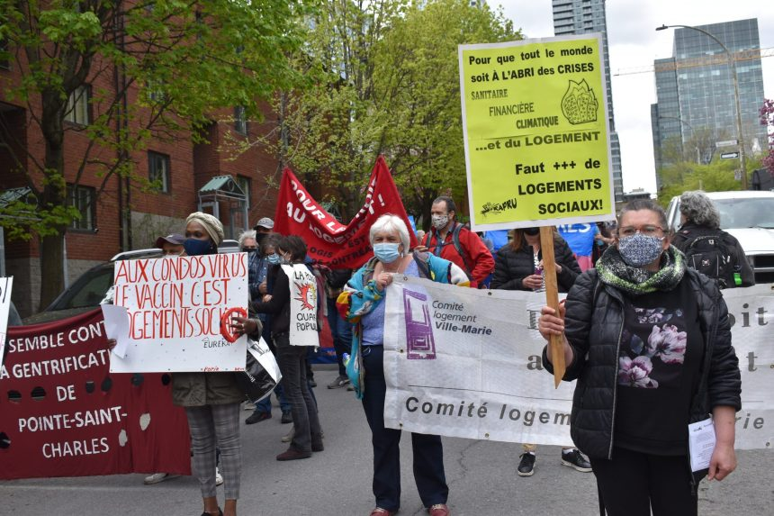Manifestation du FRAPRU pour le logement social dans le Sud-Ouest