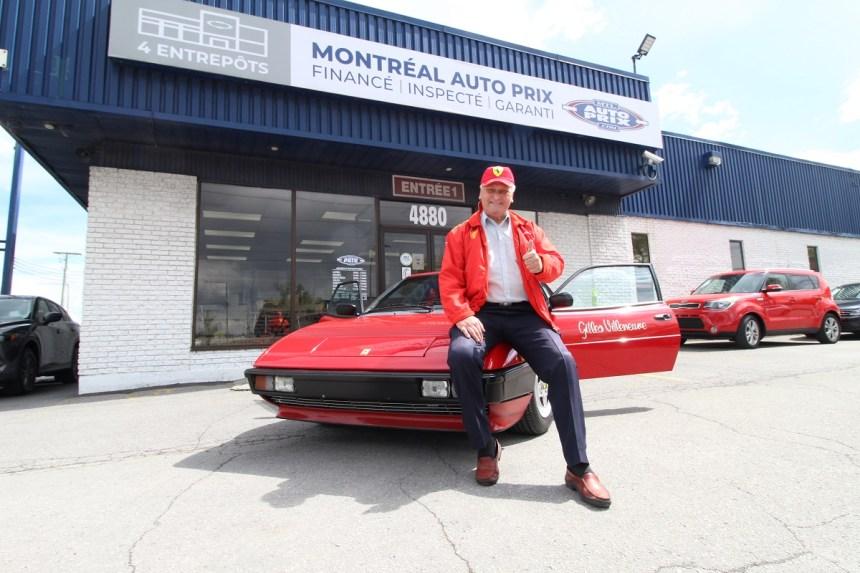 Un habitant de Saint-Léonard possède une voiture conduite par Gilles Villeneuve