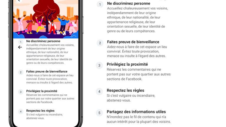 aperçu règlements à respecter adhésion facebook quartiers