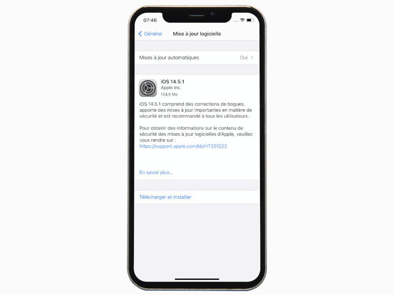 Détails mise à jour iOS 14.5.1