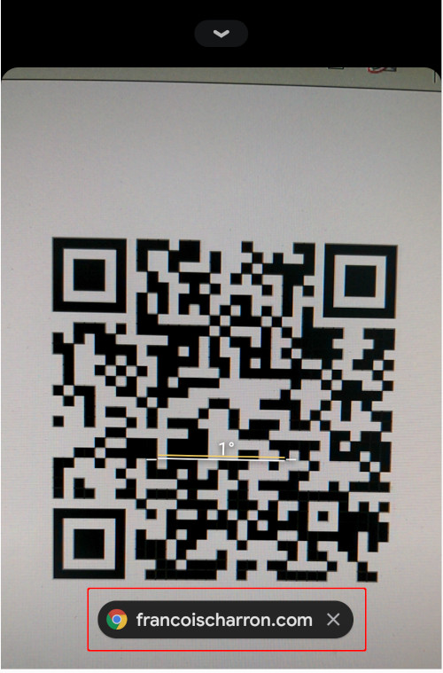Inspecter lien code QR