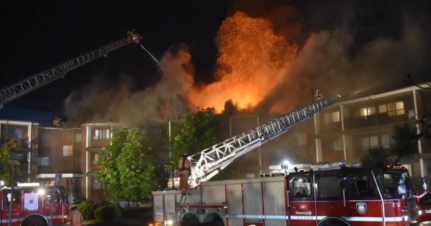 Élan de solidarité après l'incendie qui a forcé l'évacuation de 300 personnes à DDO