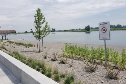 Pas de baignade sans décontamination des sols à la plage de l'Est