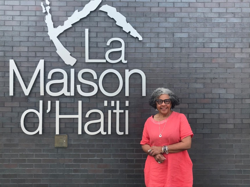 Marjorie Villefranche de la Maison d'Haïti, citoyenne d'honneur de Montréal