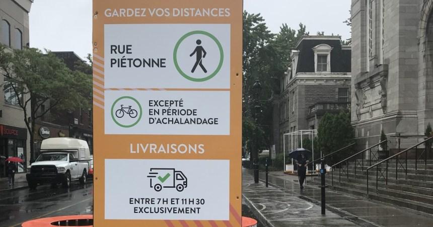 La circulation à vélos tolérée sur la rue Wellington