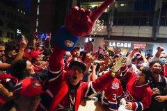 Les Canadiens s'en vont en finales de la Coupe Stanley, Montréal célèbre