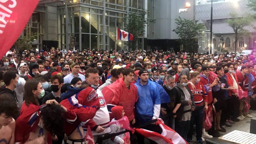 Victoire des Canadiens: c'est la fête au centre-ville