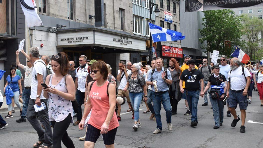 Marche contre les mesures sanitaires