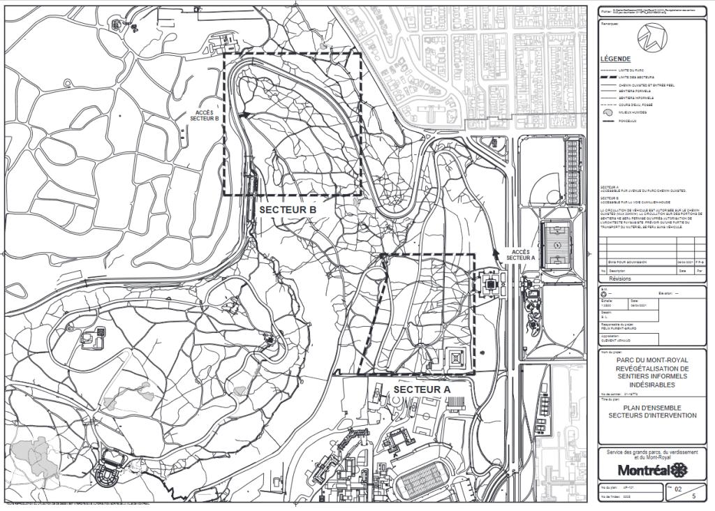 Deux secteurs du Parc Mont-Royal vont faire l'objet de revégétalisation et de fermeture de sentiers informels.