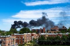 Incendie important sur Mont-Royal Est