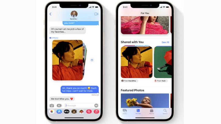 Partagé Messages iPHone iOS 15