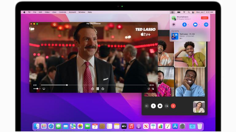Facetime partage divertissements macOS Monterey