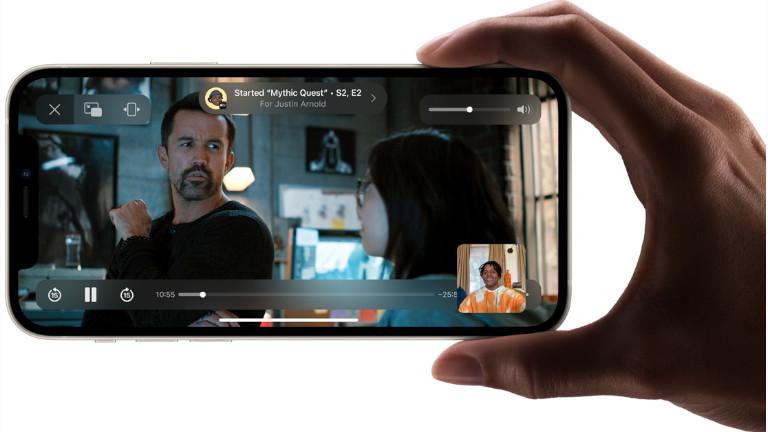 Partage divertissement Facetime iPhone iOS 15