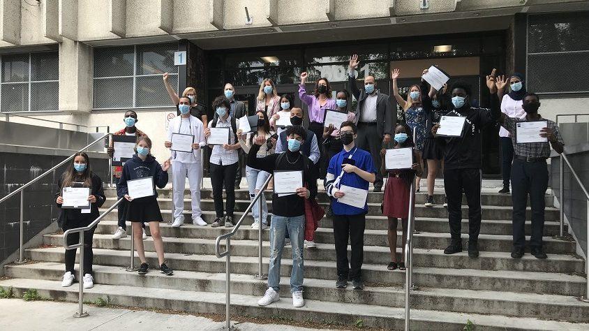 Année pandémique: plus d'élèves  récompensés à Montréal-Nord