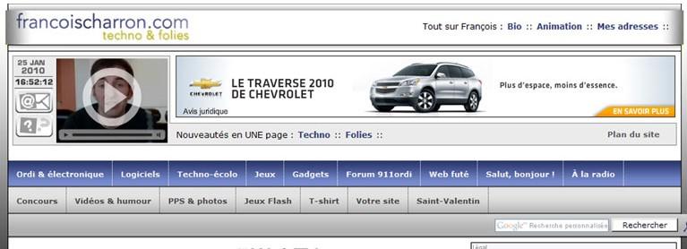 site francoischarron.com 2010 techno et folies