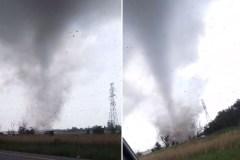 Les incroyables images d'une tornade… à Mascouche!
