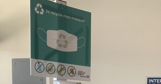 Les masques chirurgicaux recyclés à l'Hôpital de Verdun