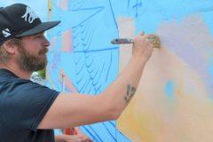 Projet d'art mural à l'entrée de Lachine-Est