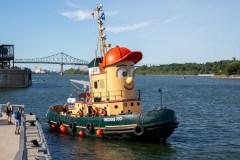 Le bateau de l'émission Théodore le remorqueur au Port de Montréal